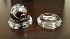 """3 Large 2"""" Round Dimple Display Stand For Shooter Mummy Standard Marbles"""