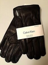 NWT Calvin Klein Men's Black Touch Screen Technology Quilted Leather Gloves