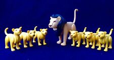 playmobil 7 Lion Zoo Animals Africa Rare Klicky Custom Figure Geobra