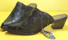 Roper Womens 8.0 Leather Mule Dress Shoes Croc Print Block Heel 0902115550302 BR