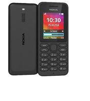 Tout Neuf Nokia 130 Noir Double Sim Débloqué Libre TéléPhone Portable VENDEUR UK