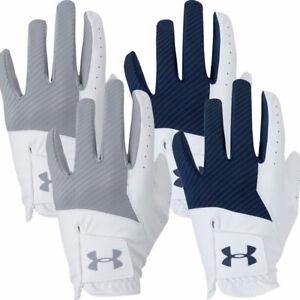 Under Armour Mens UA Medal Golf Glove Left Hand - 2 PACK