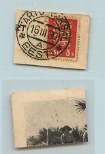 Estonia 1930 SC 93 used Tartu cover cut . f9214