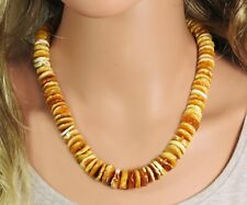 Amber Necklace Wheels/Discs Natural Jewelry Made From Handmade