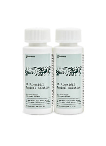 Minoxidil 5% Topical Solution | 2 month supply - 120ml | Mens Hairloss Treatment