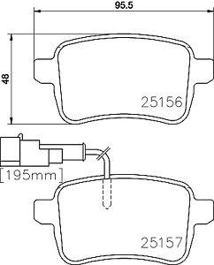 Hella Pagid Rear Brake Pads T2011 fits Alfa Romeo Giulietta 940 2.0 JTDM