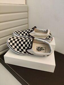 Vans Checkered Plimsolls UK 3 Unisex. Black cream