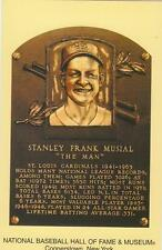 STAN MUSIAL Hall of Fame Plaque Postcard St. Louis Cardinals NR MT