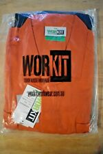 WORKIT 4002ON All Cotton 190 Lightweight Coveralls Taped 2 Tone Orange/Navy 117S