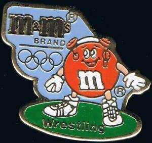1992 Barcelona M&Ms Olympic Wrestling Sponsor Sports Pin