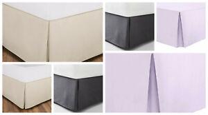 "Bed Skirts 15"" Fall 100% Cotton Fabric Wrape Platform"