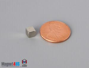 """5mmx5mmx 5mm 3/16""""x3/16"""" X3/16"""" CUBIC N45 N52 Rare Earth Neodymium Square Magnet"""
