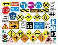 Highway & Roadway Travel, 375 Signs, MEGA Scrapbook & Art Set, 10 Sticker Sheets