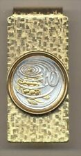 Cayman Is. Turtle  Coin Hinged Money Clip 2-Toned Gold on Silver 178MC
