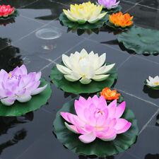Flotante artificial flor de loto lirio de agua decoración del jardín Estanque