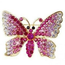 STUNNING BEAUTIFUL CRYSTAL BUTTERFLY BROOCH PIN- BRAND NEW
