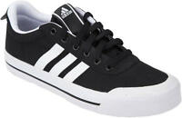 ADIDAS BRASIC STR II MENS TRAINERS BLACK CANVAS UK SIZE 6 - 11