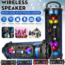 More details for wireless led bluetooth speaker fm stereo loud bass subwoofer aux usb tf outdoor