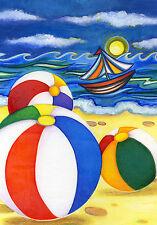"""Beach Balls"" (12.5"" x 18"") Garden Flag by Toland"