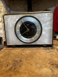 Metamec Collectable Vintage Clock Mother Of Pearl Effect