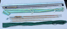 2 Vintage Fly Fishing Rod 1 Bamboo - 1 Herters Fiberglass In Aluminum Tube Case