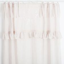 Mathilde Zement Weiss bestickt 2x(145x250cm) Gardinen Vorhänge Shabby Chic
