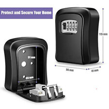 Wall Mounted waterproof Storage 4 Digit pin Key Safe Lock W/Combination Locksafe