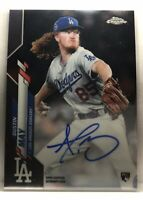 Dustin May 2020 Topps Chrome Base Rookie On Card Auto Autograph RC LA Dodgers