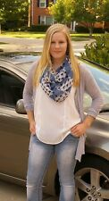 New Hounds Tooth Infinity Scarf