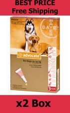 Advocate For Dogs 10-25kg Large Dogs 6 Pack Flea and Lice Treatment EXP 06/2019