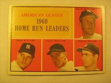MLB Topps Baseball Card 1961 MANTLE MARIS 1960 Home Run Leaders #44 GREAT [b5e9]