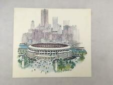 1970 Print of Drawing of Three Rivers Stadium PITTSBURGH by J Howard Miller