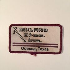 KIRKLAN D BROS. INC. ODESSA TEXAS PATCH