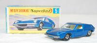 MATCHBOX SUPERFAST - SF-005A VER 2, LOTUS EUROPA, BLUE, UNP BASE, CLR WIN JB1544