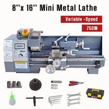 750w 8x16 Variable Speed Mini Metal Lathe Bench Precision Digital Workbench