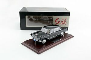 1:24 HongQi Red Flag CA770 Limousine 1965 Black Century Dragon Diecast Model