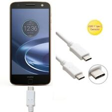 Motorola Moto Z2 Force White 3 FT USB Sync Charge Fast Charger Type C Cable Cord