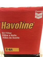 Havoline T-51 T51 Oil Filters 3 oil filters new old stock