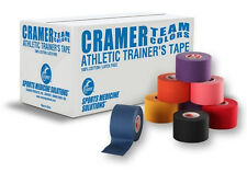 """Cramer Athletic Team Colors Tape 1.5"""" x 10 yards Various Colors"""