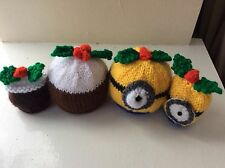 Minions/Christmas Pudding cover Chocolate orange  knitting pattern only 2 sizes