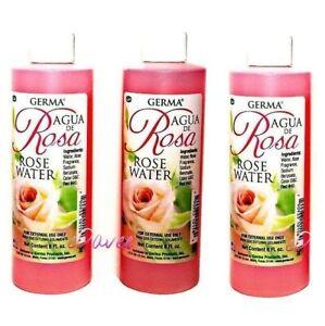 AGUA DE ROSAS 3pk Rose Water 8oz Skin and Facial Cleanser Limpiadora Piel Facial