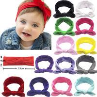 Baby Kid Girls Rabbit Bow Ear Hairband Headband Turban Knot Head Wraps Warmer V8