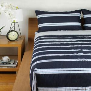 Hudson Stripe Navy Comforter Set by Jason