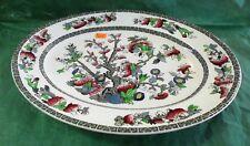 "Johnson Brothers 'Indian Tree' Green Key, White Ground, 12"" Long Platter"