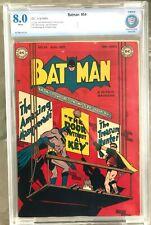 Batman #54 (1949) CBCS 8.0 -- Win Mortimer Paper Hanger cover; Bob Kane Like CGC