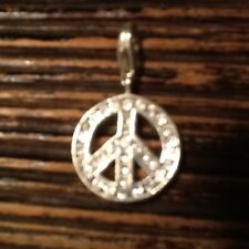 "Thomas Sabo Charm 100% Authentic Club Sterling Silver with CZ ""Peace"" Charm"