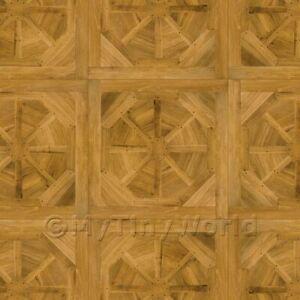 Dolls House Miniature Etoile Large Panel Parquet Wood Effect Flooring