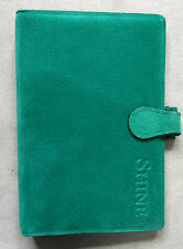 NEW LONDON ORGANISER COMPANY GREEN SUEDE LEATHER STANDARD PERSONAL FILE DIARY