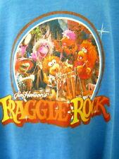 Vtg Fraggle Rock Childs Blue Tee Shirt Jim Henson Muppets Puppets TV Show 83-87