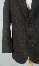 Vintage 60s Nino Cerruti Wool Fleck Tweed Sports Coat Blazer Jacket Dress L/XL